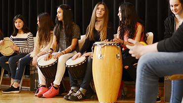 Trommeln in Schulen, Musikunterricht Düsseldorf